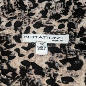 Notations Tops - Fun animal like print dress shirt